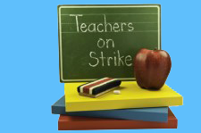 School's out as teachers strike