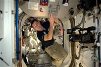 Students make live video call the Space Station