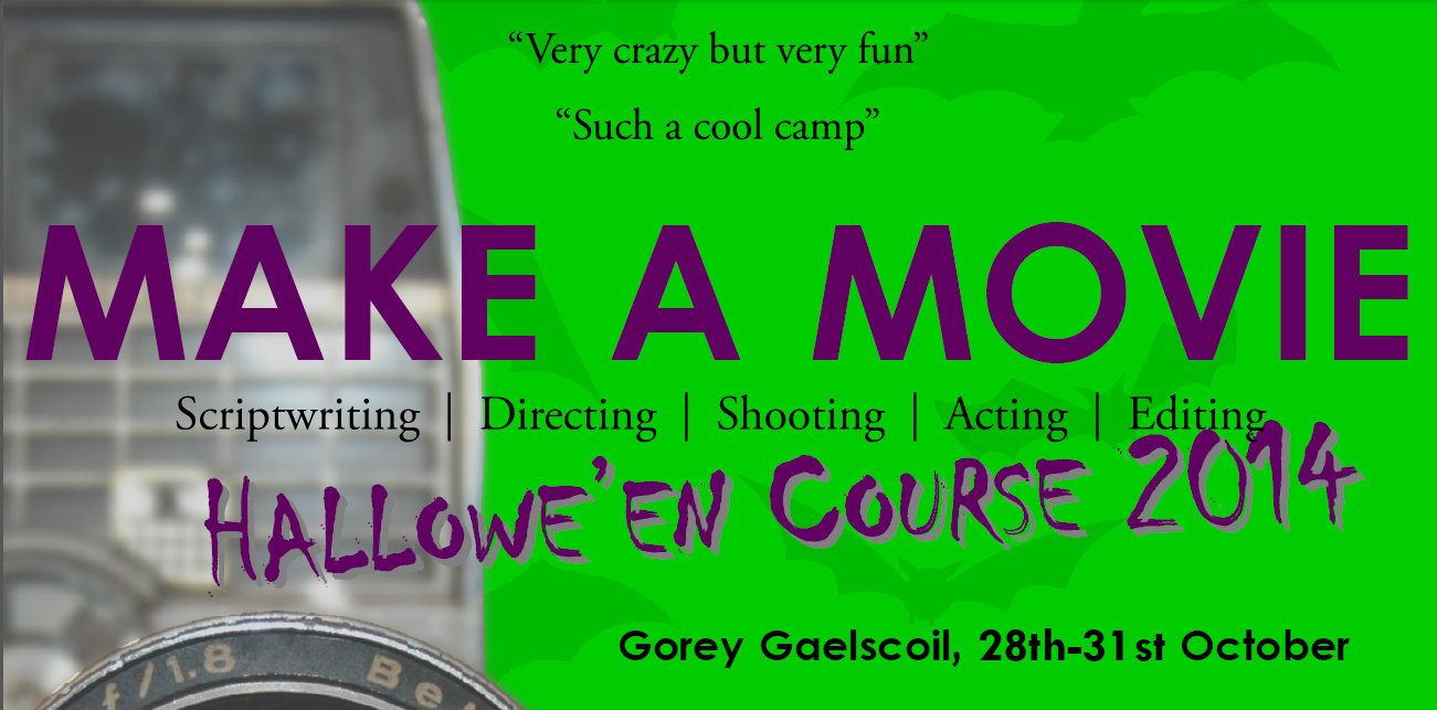 Make a Movie Hallowe'en Course
