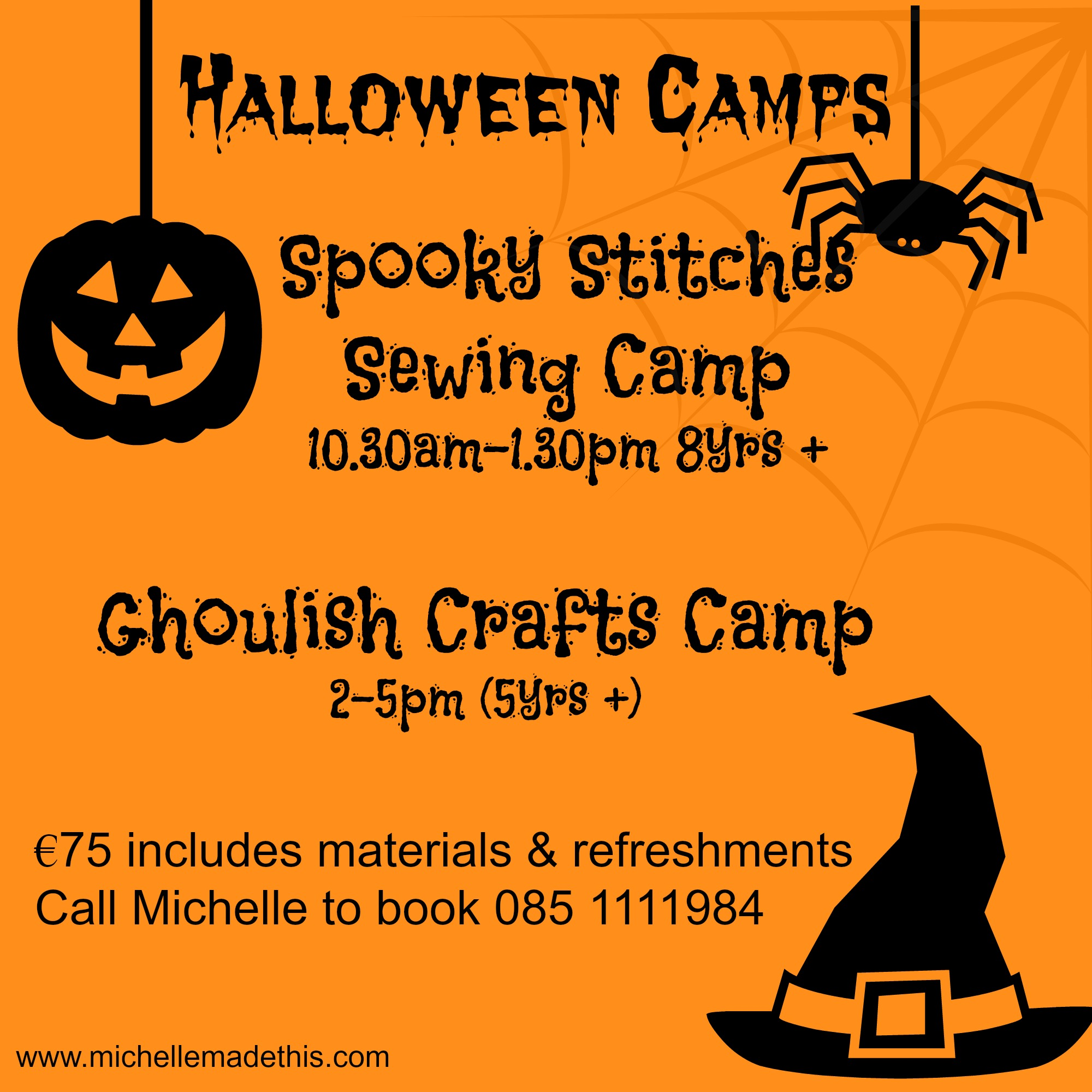 Crafts & Sewing Halloween Camp