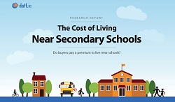 Homes near secondary schools cost more