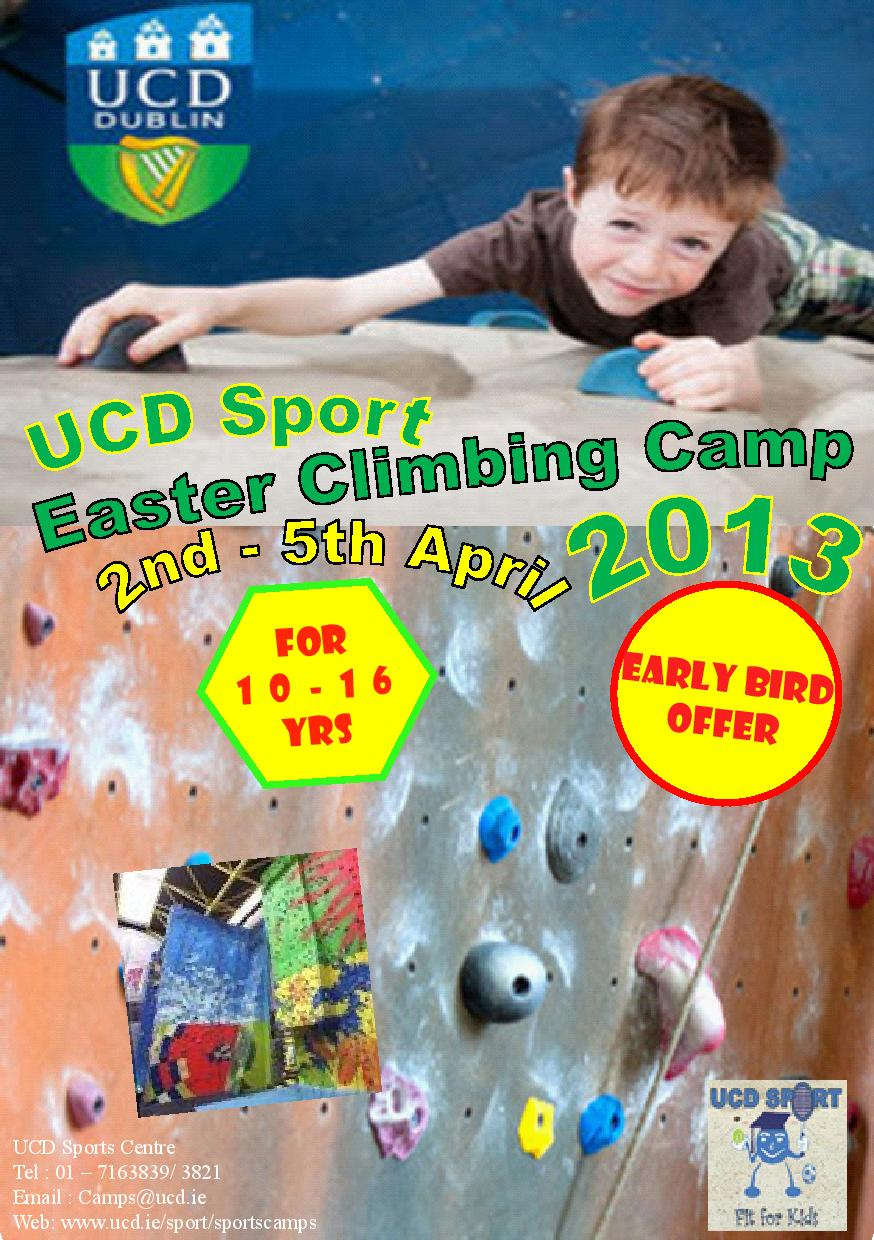 UCD Climbing Easter Camp